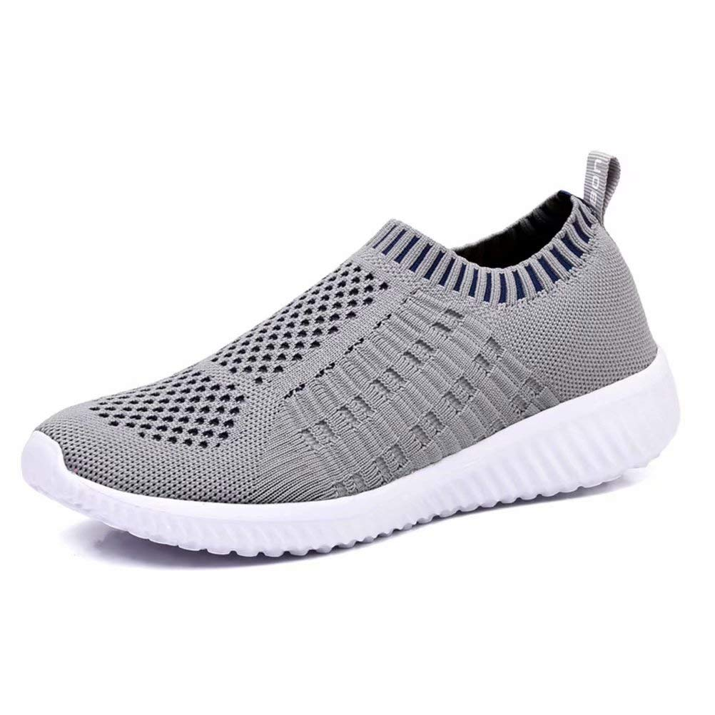 konhill Women's Casual Walking Shoes Breathable Mesh Work Slip-on Sneakers