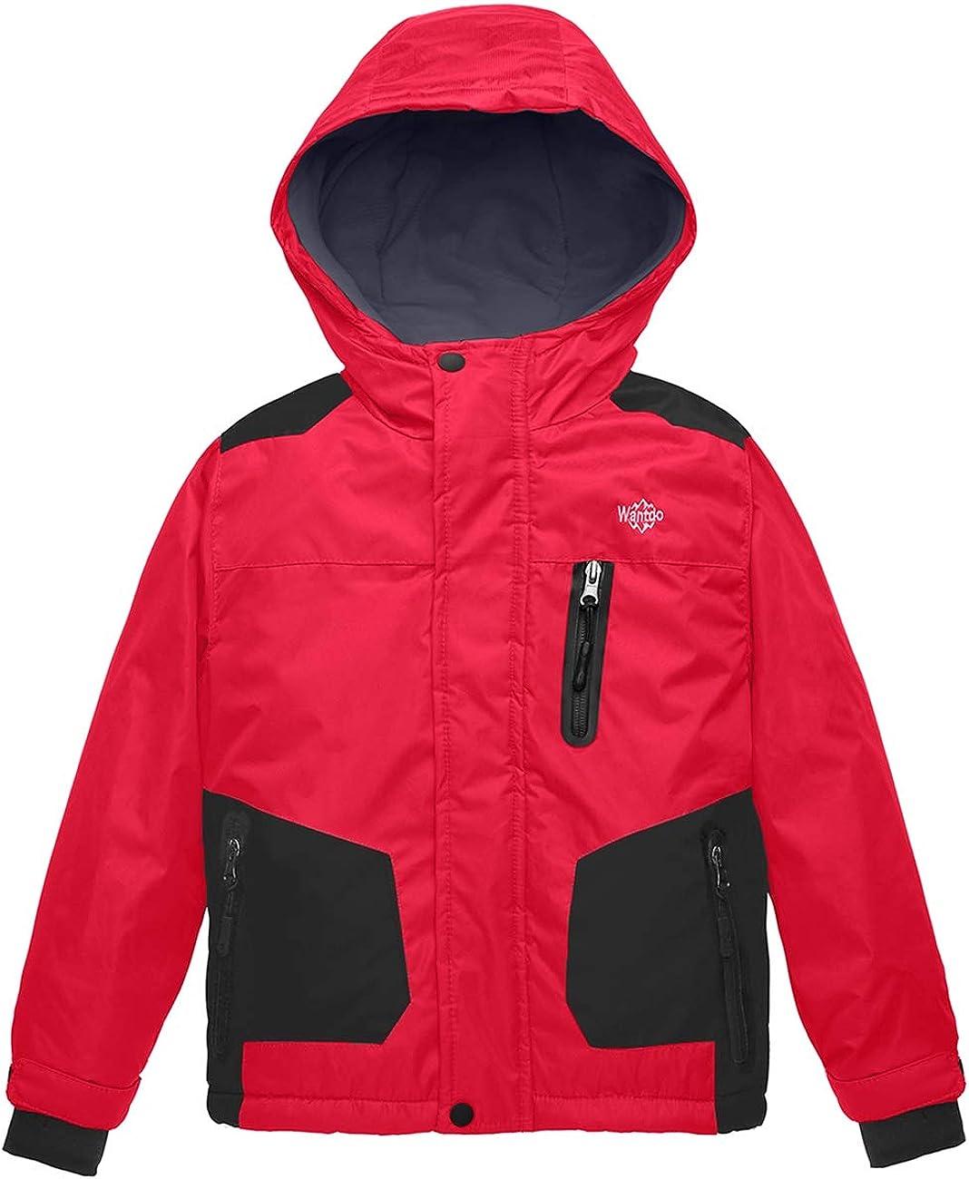 Wantdo Boy's Waterproof Skiing Jacket Insulated Snowboard Jackets Warm Winter Coat Windproof Windbreaker