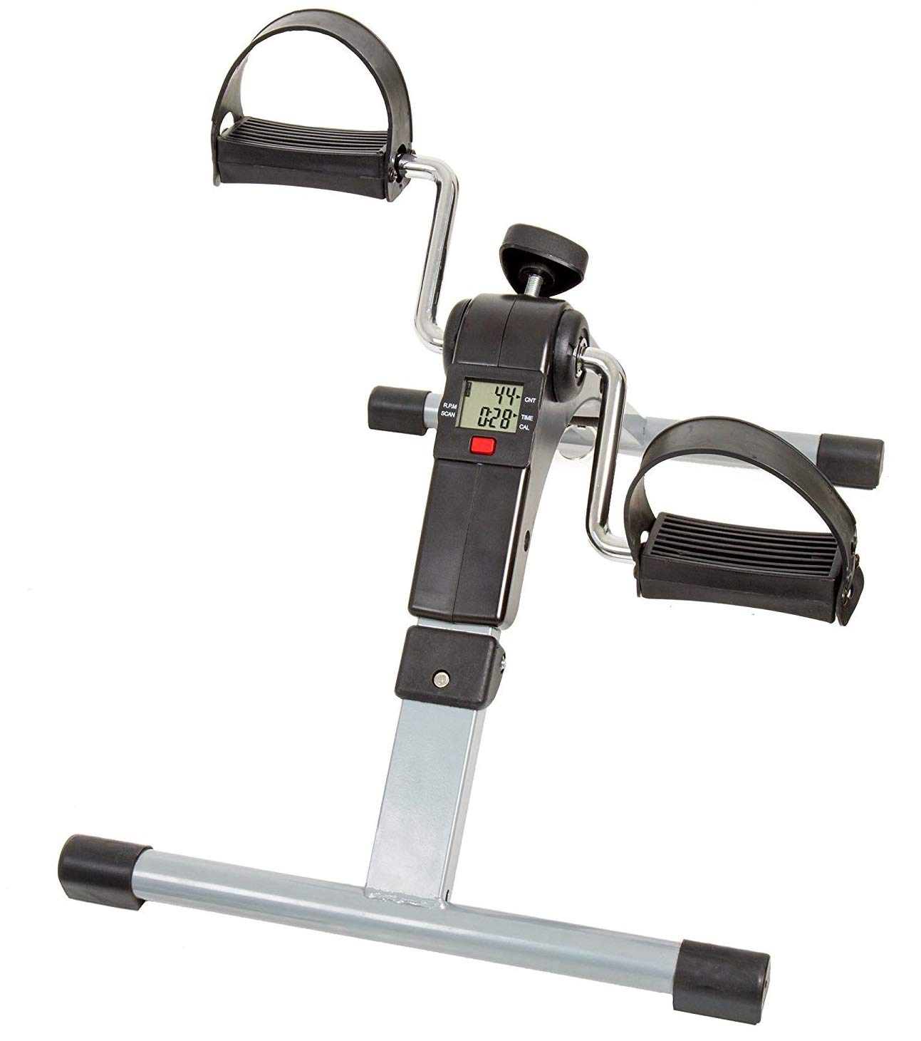 Wakeman Portable Folding Fitness Pedal Stationary Under Desk Indoor Exercise Bike for Arms, Legs, Physical Therapy Limited Edition