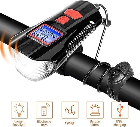 DOOK Luces Bicicleta Delantera Recargable USB LED Luz Bicicleta de Montaña Luz Bici Impermeable Linterna Delantera para Bicicletas Super Brillante Luces Bici 4 Modos, 350 LM: Amazon.es: Deportes y aire libre
