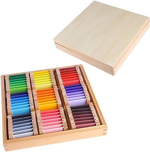 Faironly Caja de Madera sensorial de Aprendizaje de Color para ...