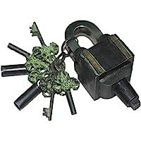 Brass Padlock - Lock with Keys - Working Functional - Brass Made - Type :