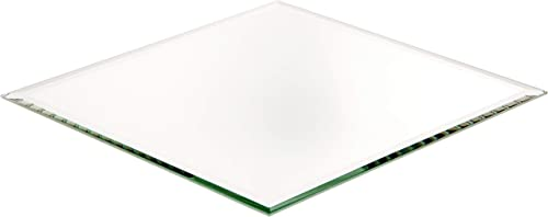 Plymor 3mm Beveled Glass Mirror, 7 inch x 9 inch Pack of 24 Diamond-Shaped