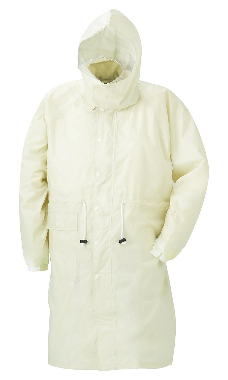 スミクラ 透湿レインパーカ リュック型 全4色 全5サイズ アイボリー L 防水透湿 収納袋付き [正規代理店品] B019RVQM90 Large|アイボリー アイボリー Large
