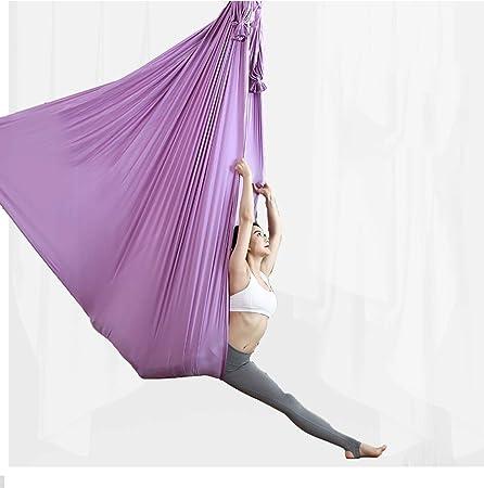 LWKBE Aérea Hamaca Yoga 6.6 Yardas Seda aérea Yoga Swing Set ...