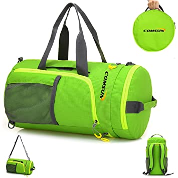 Comsun Sports Backpack Foldable Gym Duffle Bag For Women And Men