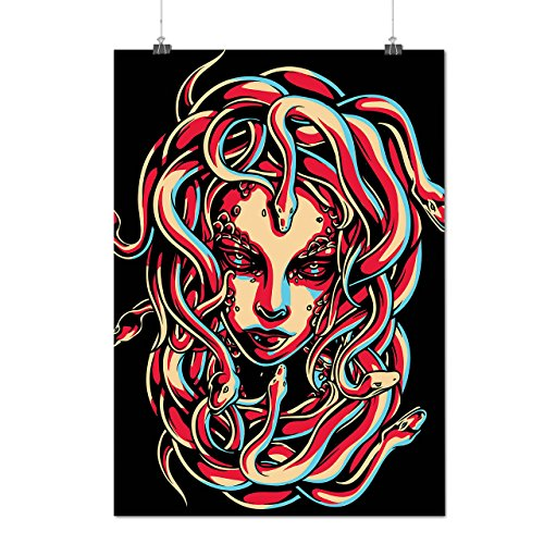 [Medusa Queen Snake Viper Hair Matte/Glossy Poster A3 (12x17 inches) | Wellcoda] (Spirit Walker Costume)