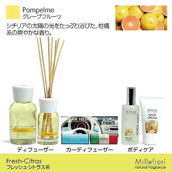 Millefiori POMP Elmo Botella 250 Ml Para Natural Ambientador difusor, plástico, amarillo, 6.3 x 5 x 13.7 cm: Amazon.es: Hogar