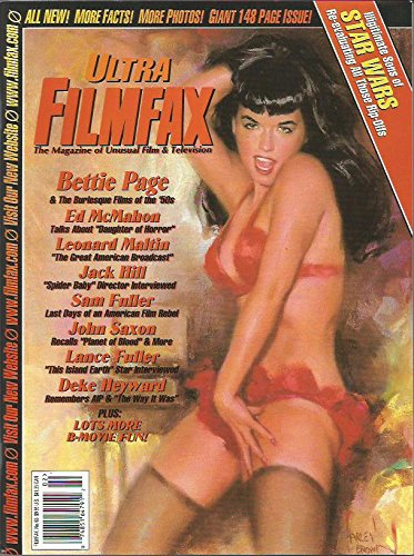[Ultra Filmfax Magazine #65 February/March 1998 Bettie Page on the cover] (Bettie Page Halloween)