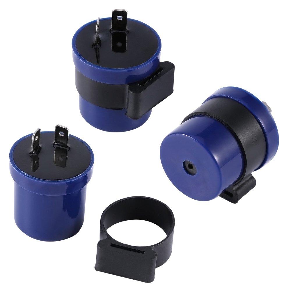 Rel/è per moto a 2 pin Yosoo lampeggiante colore blu 6-12/V