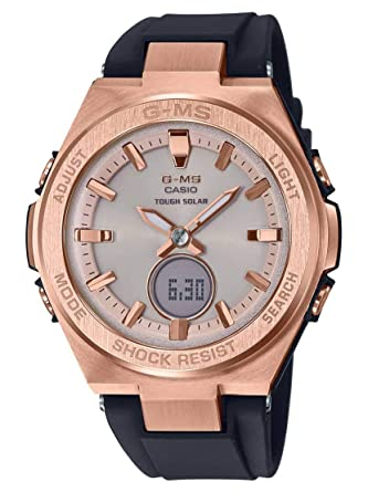 722badac43dc Amazon.com  Ladies  Casio Baby-G G-MS Black and Rose-Tone Watch  MSGS200G-1A  Casio  Watches
