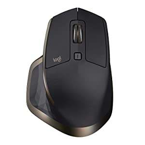 Logitech MX Master Wireless Mouse – High-precision Sensor, Speed-adaptive Scroll Wheel,Thumb Scroll Wheel, Easy-Switch up to 3 Devices