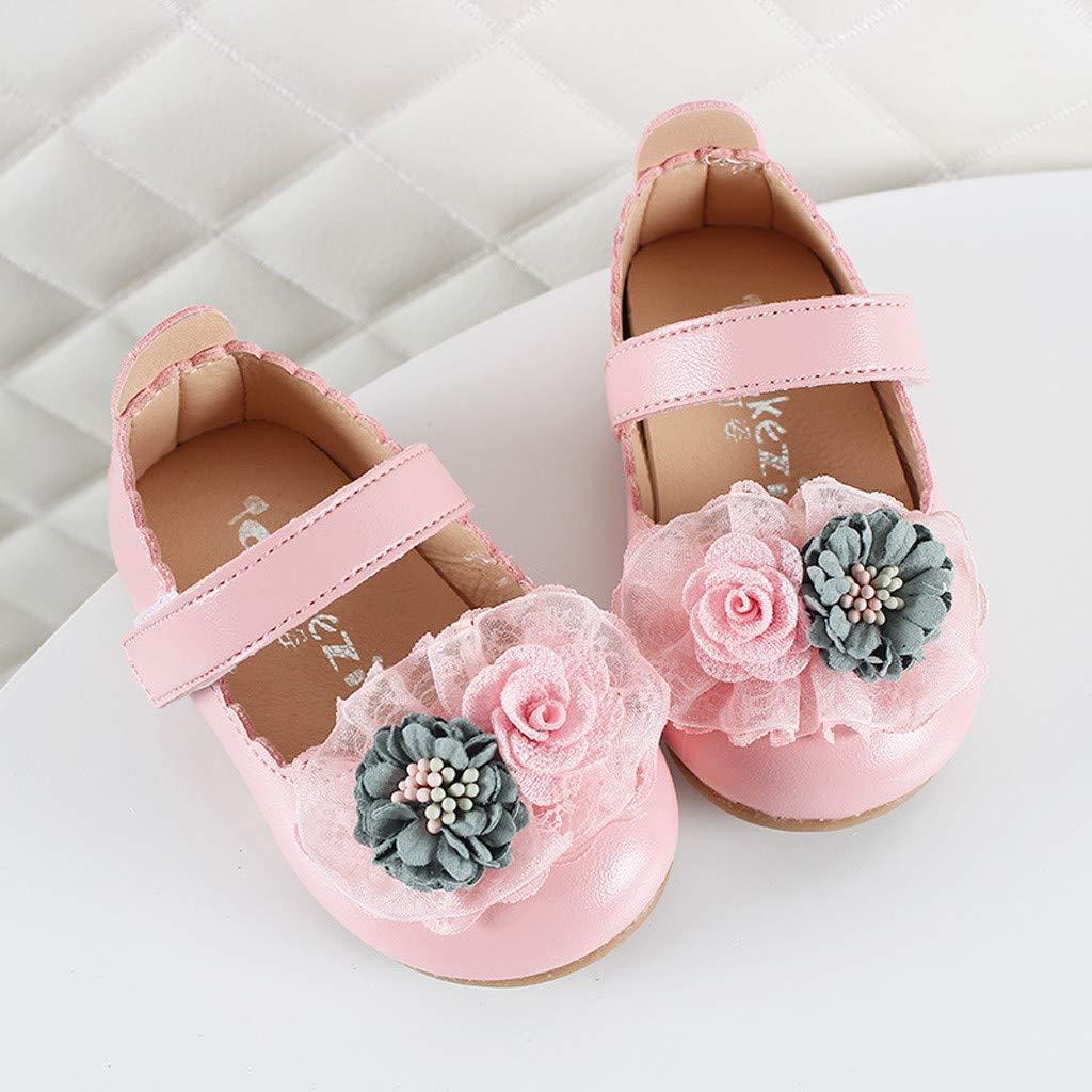Lanhui Toddler Sandals Infant Kids Baby Girls Elegant Flower Single Princess Shoes