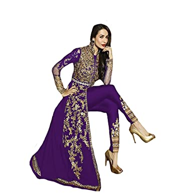 95a729f8b7d1 Party Wear Indo-Western Gown Indian Pakistani Muslim Women dress Designer  Anarkali salwar Suit 9215  Amazon.co.uk  Clothing