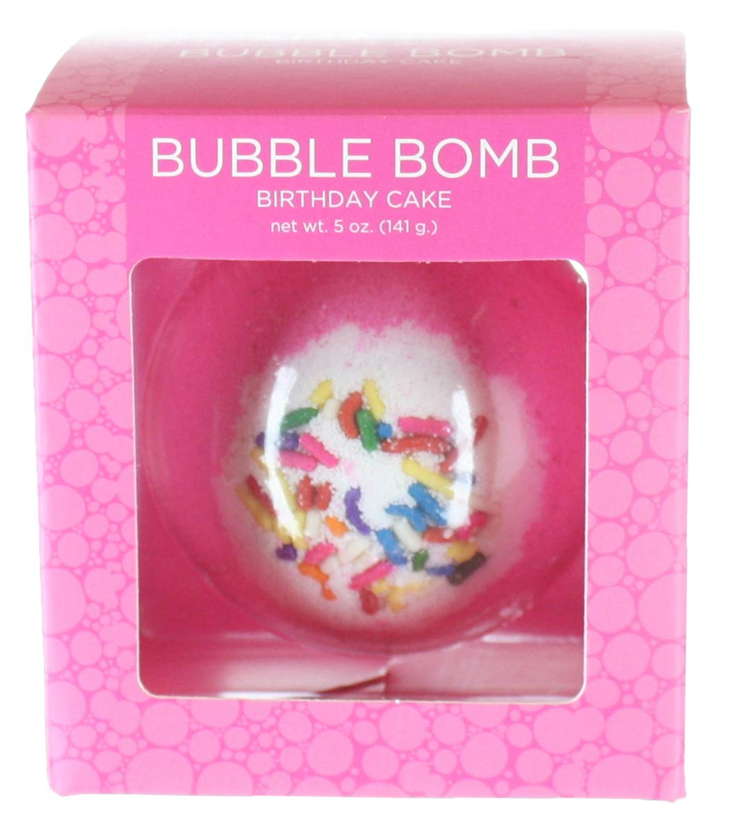 Amazon Birthday Cake BUBBLE Bath Bomb In Gift Box USA Made Large Lush Spa Fizzy Handmade Idea For Her Wife Girlfriend