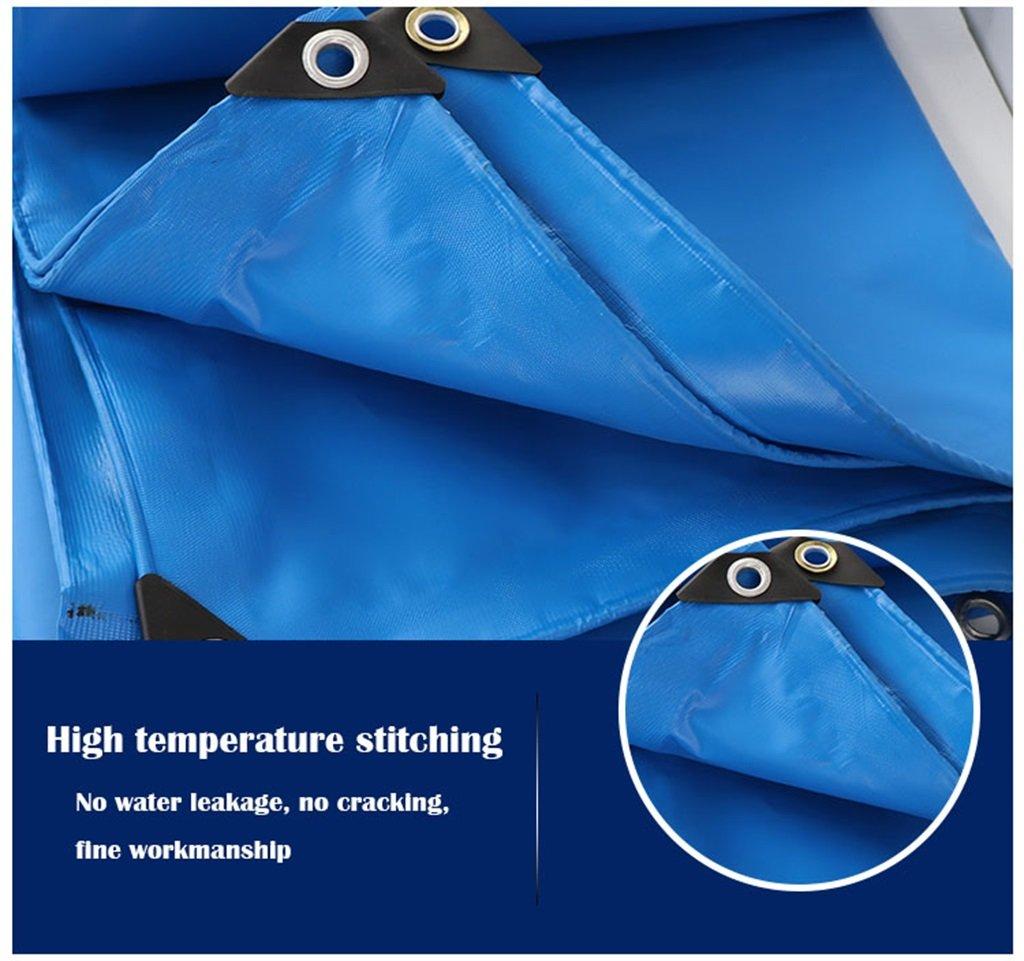 Shading Net HTZ PHTW HTZ Net Plane, Hoher Leistungsfähigkeits-Wasserdichter Plane-Bodenbelag Im Freien Feuchtigkeitsfestes Lichtschutz - Blau-0.6mm-400g ㎡ A+ (größe   5X6M) ad6fc8