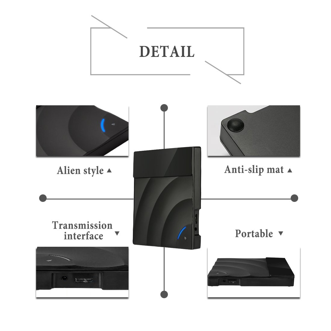 External DVD Drive, Sunreal USB 3.0 External CD DVD Burner Ultra Slim Portable Touch Control CD/DVD Writer Reader Player for Laptop/Desktop Support Window/Mac OS(Black) by Sunreal (Image #6)