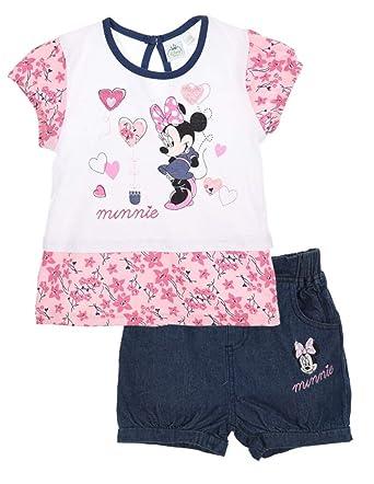 Minnie Ensemble Short et T-Shirt bébé Fille Rose et Marine de 3 à 24mois   Amazon.fr  Vêtements et accessoires 9071b690b8d