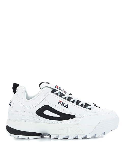 Fila Mujer 101060400E Negro Cuero Zapatillas: Amazon.es: Zapatos y complementos