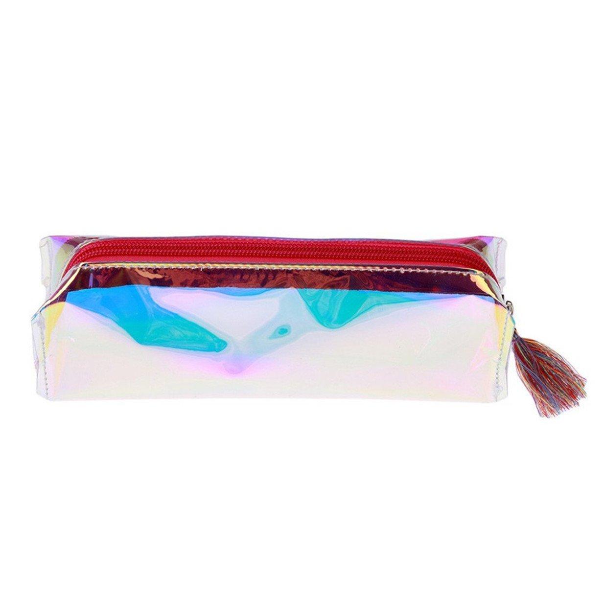 Violet EJY Transparent Trousse Sac /à stylos Trousse /à Crayons Trousse de Maquillage