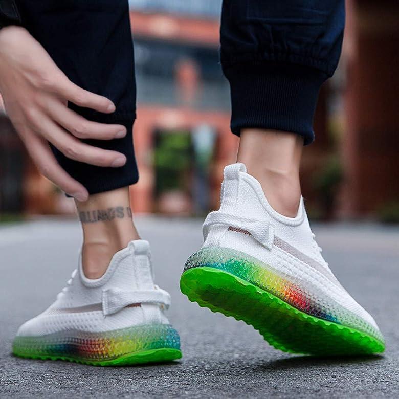 Hombre Zapatillas Deporte Realde Rainbow Air Cushion Zapatillas de Deporte Ligeras Transpirables y Deportivas Pista de Tenis para Caminar Senderos para Correr Correr Deportes Zapatos Running: Amazon.es: Zapatos y complementos
