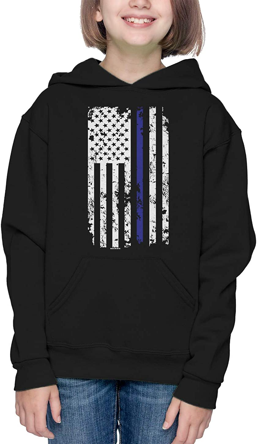 Support Police Infant//Toddler Cotton Jersey T-Shirt HAASE UNLIMITED Blue Line American Flag