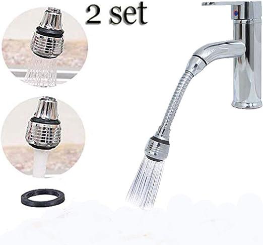 360° Flexible Faucet Extender Nozzle Filter Water Saver Sprinkler Sprayer New