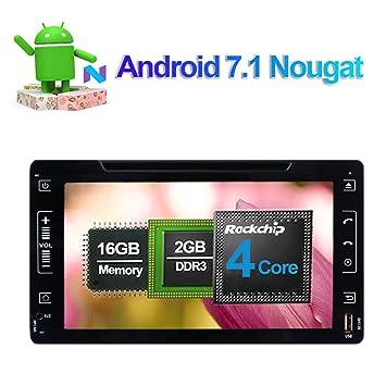 Reproductor de DVD y CD estéreo para coche de 8 pulgadas, Android 7.1 con Bluetooth