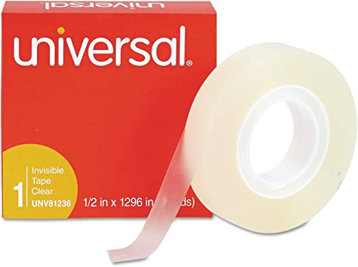 "Clear 12 pack by Highland 1//2/"" x 1296/"" Invisible Tape 1/"" Core"
