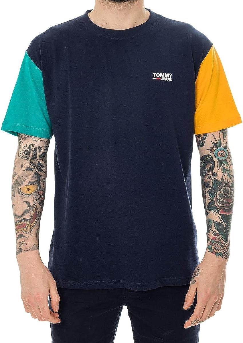 Tommy Hilfiger T-Shirt UOMO TJM Color Block tee DM0DM06075.002 (XL ...