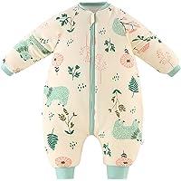 Bebé Saco de Dormir para Niños Niñas Manga Separable con Piernas Algodón Pijama Cremallera Mamelucos Mono Invierno Traje…