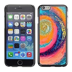 TopCaseStore / la caja del caucho duro de la cubierta de protección de la piel - Surf Wave Summer Vortex Teal Pink - Apple iPhone 6