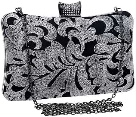 Color : Silver FeliciaJuan Suede Evening Bag Stained Glass Drill Clutch Luxury Scalloped Rhinestone Dinner Bag Lady Celebrity Clutch