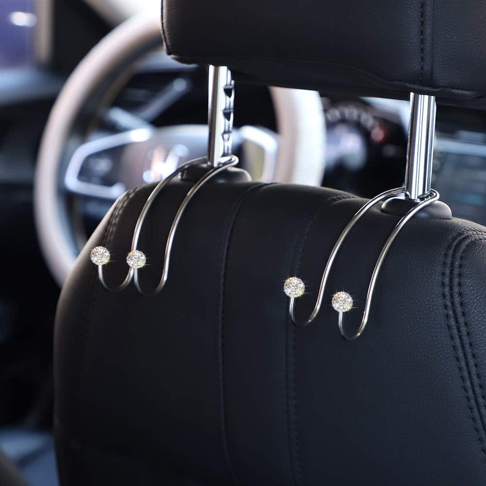SAVORI Auto Headrest Hooks Bling Car Hangers and Organizers