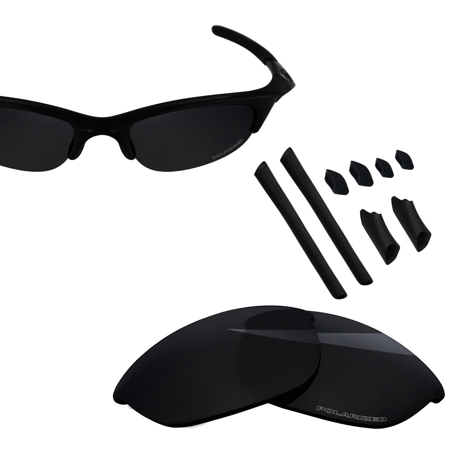 BlazerBuck Anti-salt Polarized Replacement Lenses & Sock Kit for Oakley Half Jacket - Black