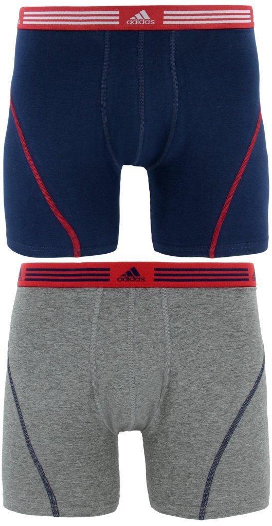 adidas Men's Athletic Stretch Boxer Brief Underwear (2-Pack)