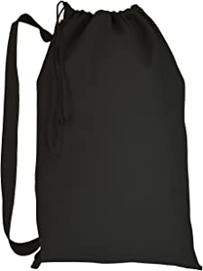 Cotton Canvas Laundry Bags (Single) (Black Medium Canvas)