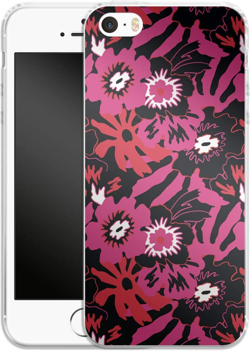 Smartphone Silicone Mobile Phone Case Flower Works Apple iPhone 5/SE