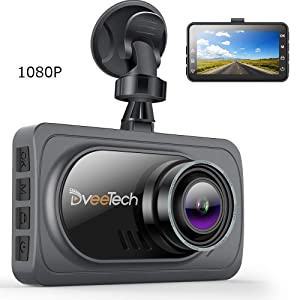 "DveeTech 4k Dash Camera for Cars 1920x1080p【Super Night Vision】 3"" IPS LCD FHD 1080P Screen 170°HDR/WDR G-Sensor Car Video Driving Recorder Superior Night Mode & Loop Recording & Motion Detection"