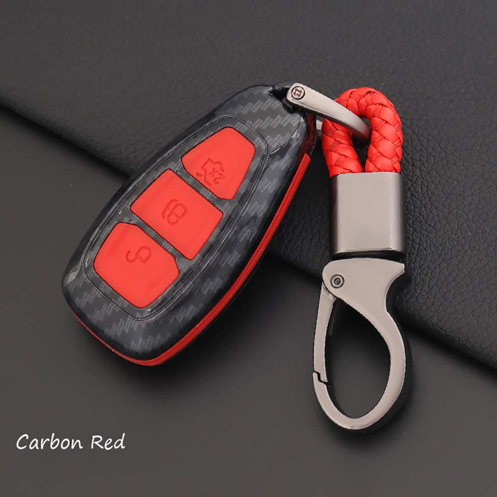Holder Bag Silicone Rubber  Trim  Cover Key Case For Ford Focus Fiesta Kuga Kit
