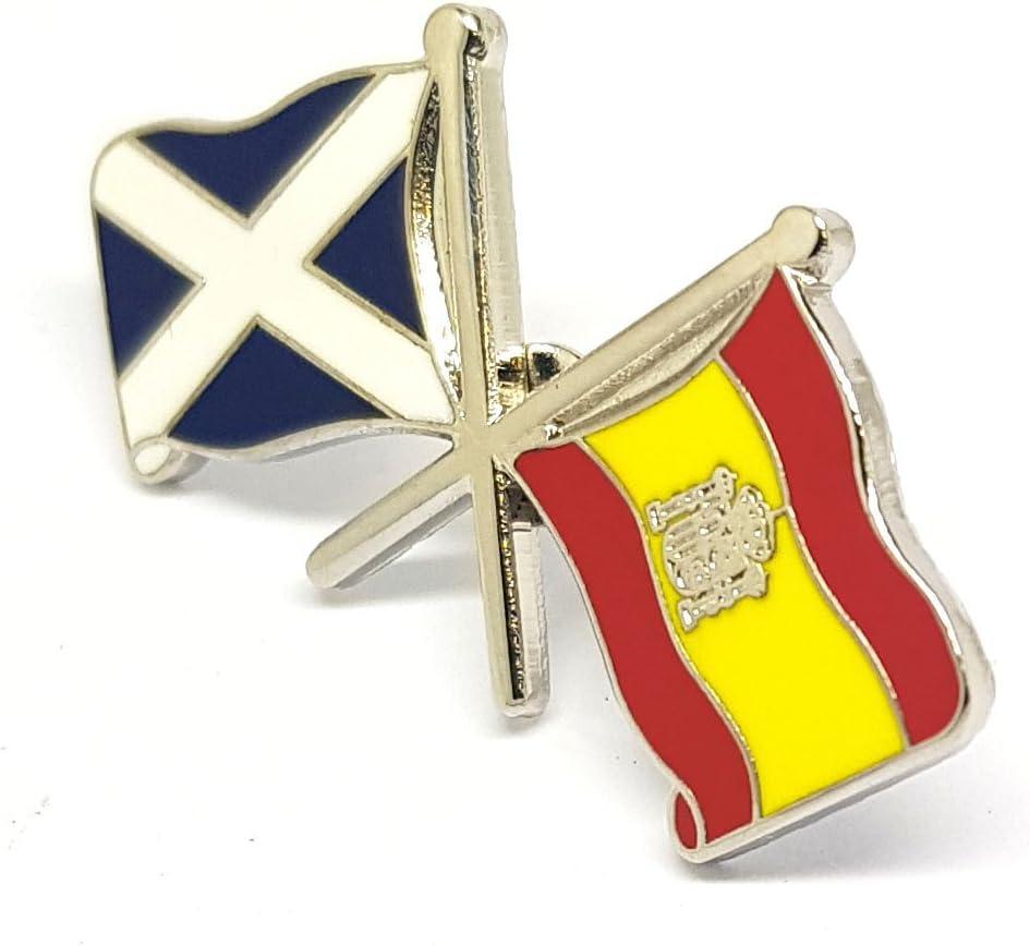 Escocia España Amistad Dual Cruzados Bandera Nacional Pin Insignia Novedad Regalo: Amazon.es: Hogar