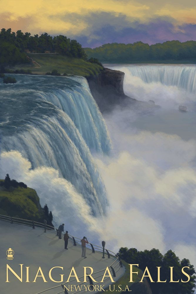 Niagara Falls, New York (9x12 Art Print, Wall Decor Travel Poster)