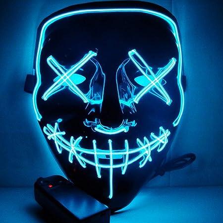 AARRM Máscara LED, Máscara de Halloween Purga Ligera llevada ...