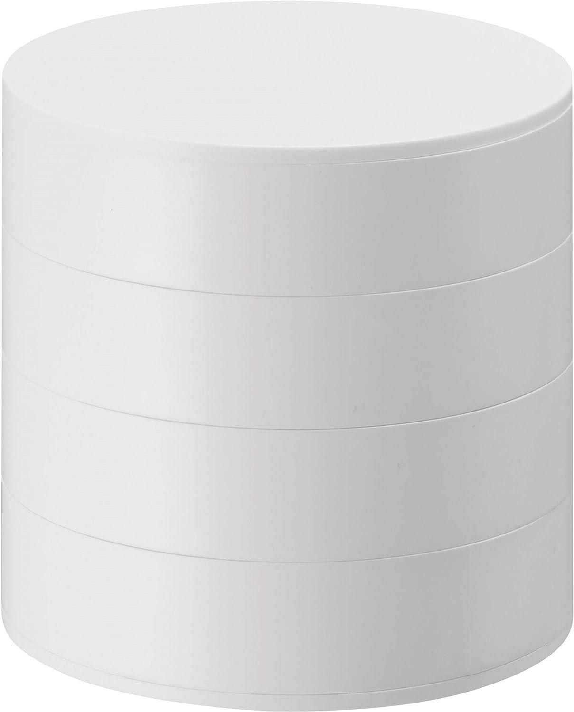 YAMAZAKI home Tower 4-Tiered Accessory Tray White