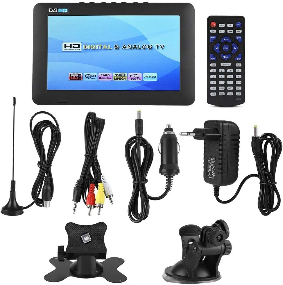 DVB-T2 Televisor Portátil Estéreo Digital de Alta Sensibilidad para Automóvil, 7 in/ 9 in / 10 in 1080P TV Digital para Automóvil, con Soporte (Negro)(7in): Amazon.es: Electrónica