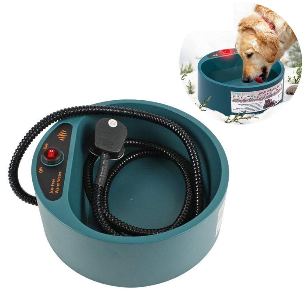 Heated Pet Bowl, Electric Heating Constant Temperature Heated Dog Water Bowl Water Feeder Bowl for Outdoor Dogs, Cats Heated Bowl