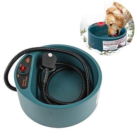 Qwhme Recipiente térmico para Mascotas, calefacción eléctrica, Temperatura Constante, Calentador de Agua,