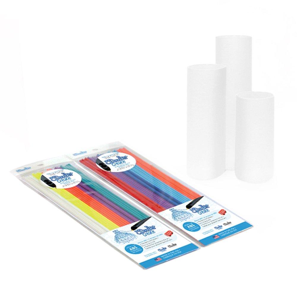 with 2 Packs of Plastic Filaments WobbleWorks Inc Keepsake Box x3 3Doodler Create  Canvas Kit 3DOOD-BOXCAN