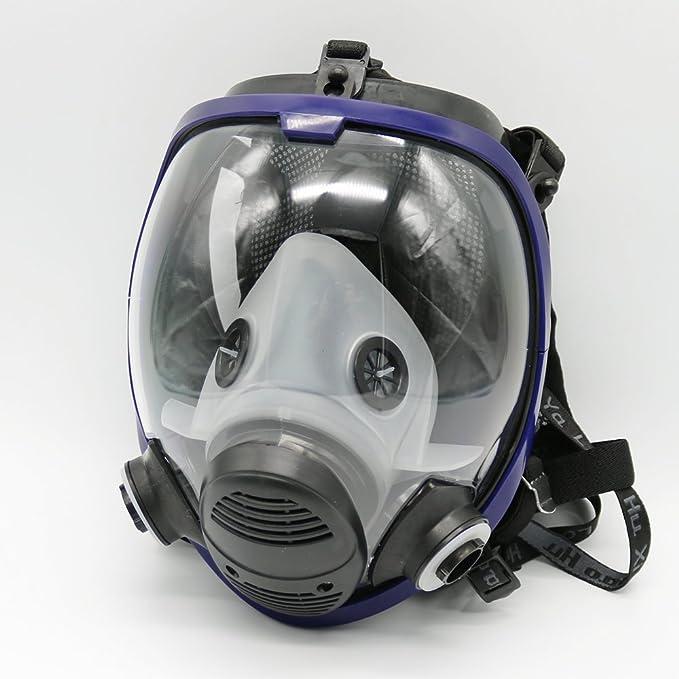 Máscara gas 6800 de cara completa, unidad facial, respirador, adecuado para aspersión de pintura: Amazon.es: Bricolaje y herramientas