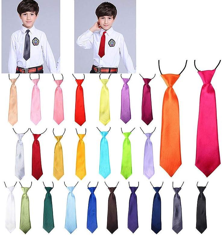 Lunji. Corbata para niños, 12 colores, corbata elástica de ...